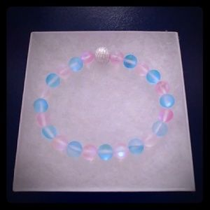 Blue & Pink Moonstone Bracelet